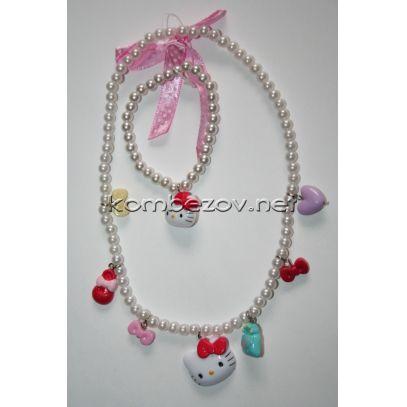 300 р.В. Название: Бусы и браслет Hello Kitty.